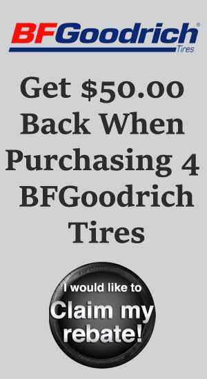 BFgoodrich tire sales, coupons and discount tires