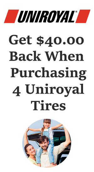 Uniroyal tire sales, coupons and discount tires